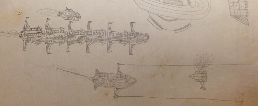Childhood drawings detail